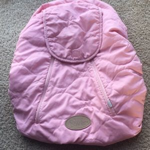 Pink quilted cozy cover fleece car seat cover